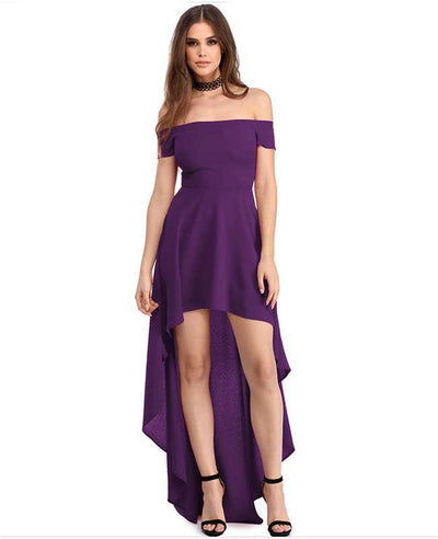Off Shoulder Evening Dress-3