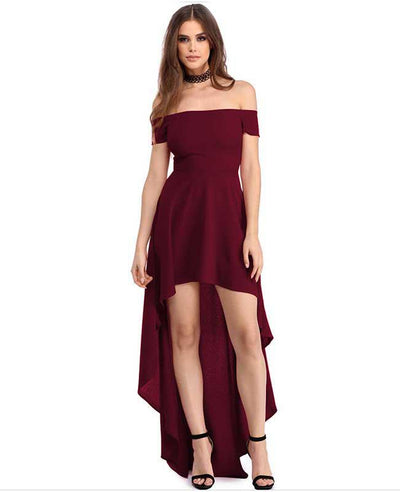 Off Shoulder Evening Dress-4
