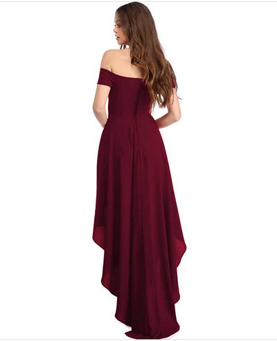 Off Shoulder Evening Dress-9