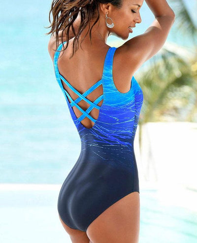 One Piece Bandage Cross Cute Bikinis