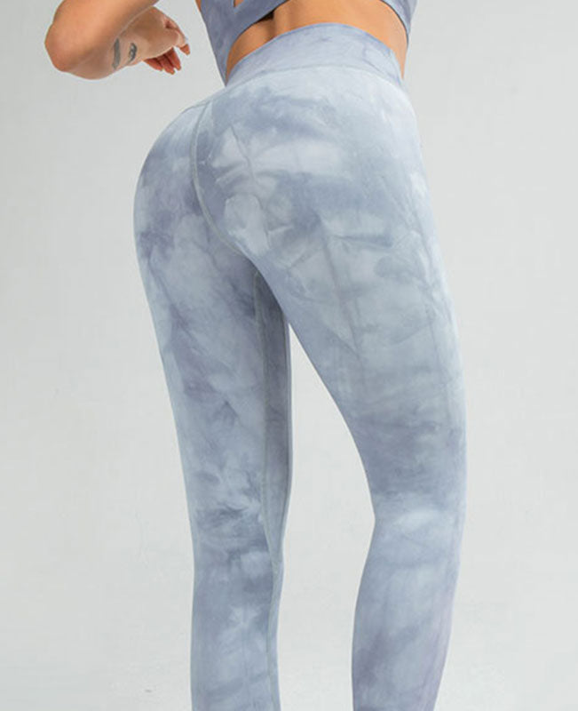 Tie Dye Yoga Pants Women's Straight Leg Yoga Pants