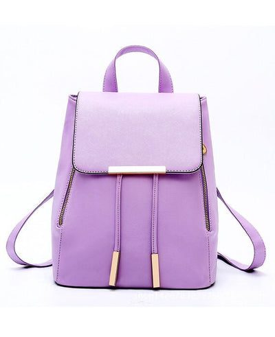 PU Leather Top-handle Backpack