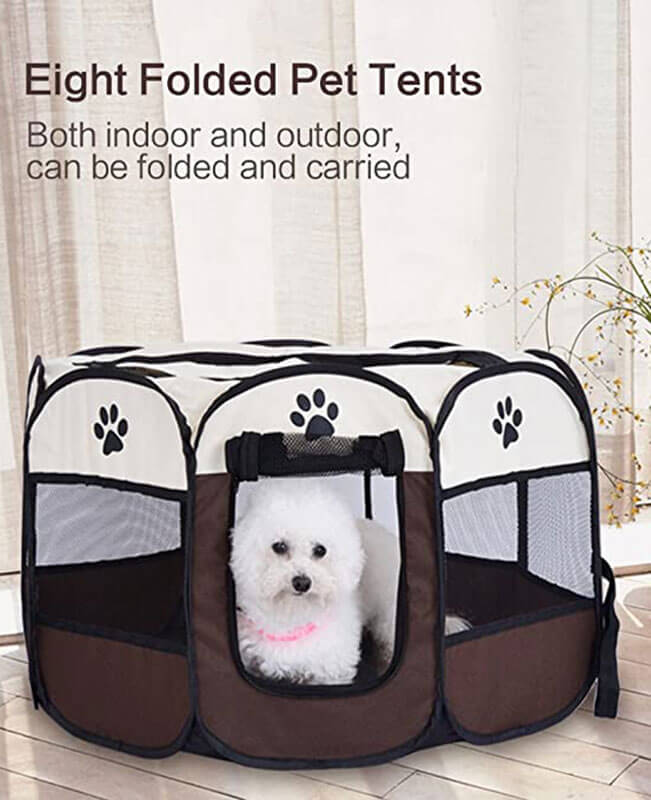 Foldable Dog Tent Camping Pet Playpen Dog Shade Tent