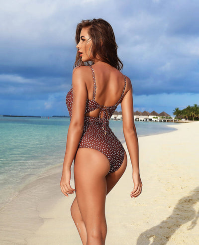 Polka Dot One Piece Swimsuit for Women