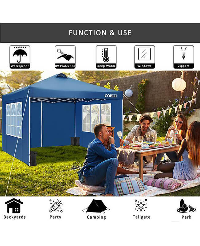 Pop Up Canopy Tent 10x10 Ft Outdoor Instant Tent