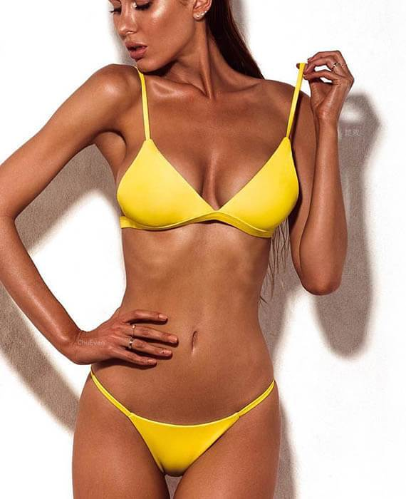 Push Up Strapless 2 Piece Bikini Sets