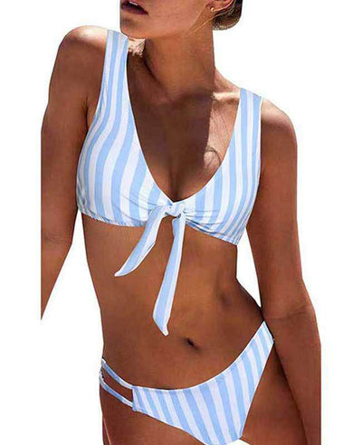 Push Up Striped Two Piece Swimsuit