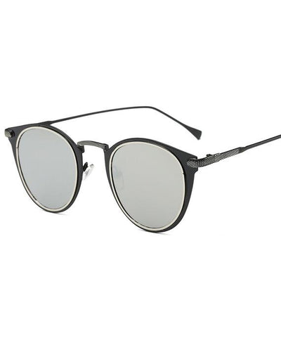 Retro Color Change Round Sunglasses