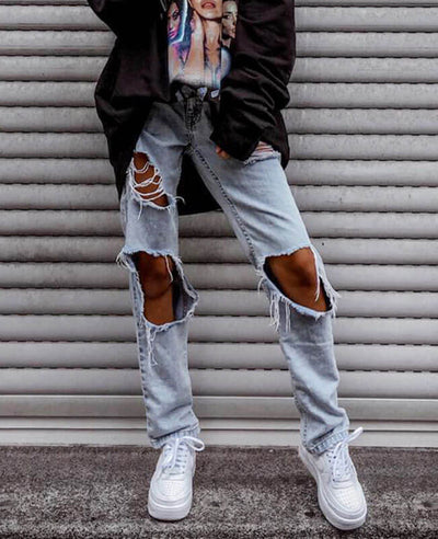 Ripped Jeans for Women Holy Jeans Street Jeans