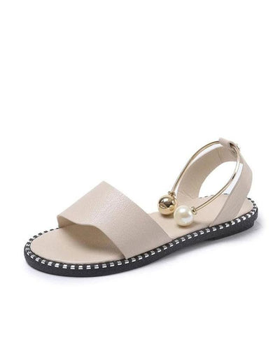 Rome Slip-On Pearl Flat Sandals