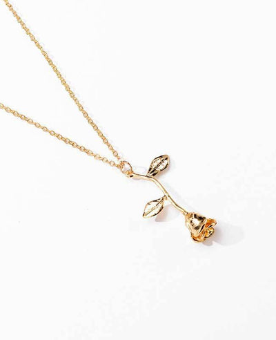 Rose Pendant Necklace for Girlfriend-2