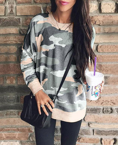Casual Long Camouflage Hoodies-1