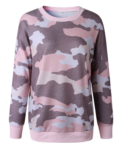 Casual Long Camouflage Hoodies-4