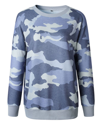Casual Long Camouflage Hoodies-7