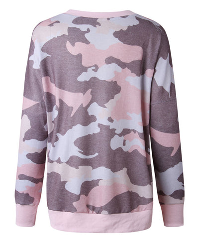 Casual Long Camouflage Hoodies-8