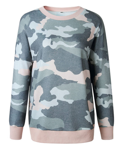 Casual Long Camouflage Hoodies-9