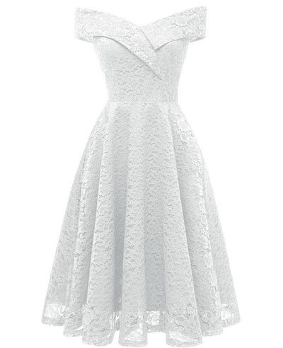 Off the Shoulder Cocktail Lace Dress