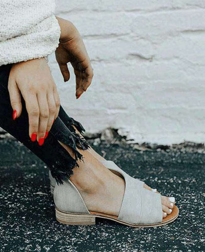 Patchwork Slip on Summer Sandals-7