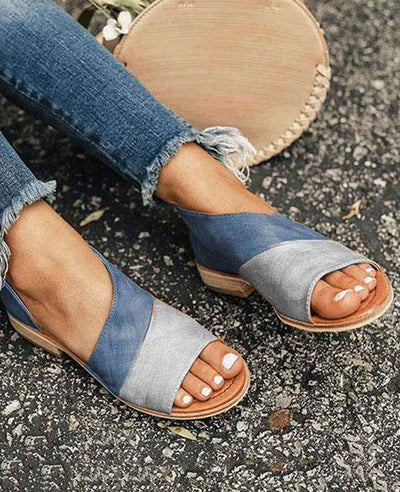Patchwork Slip on Summer Sandals