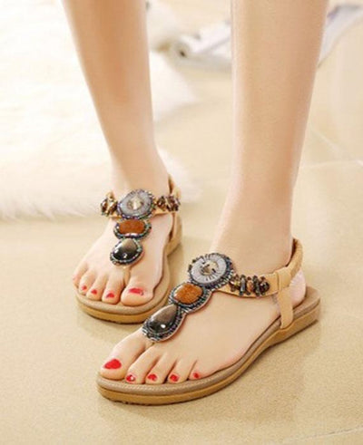 4 Color Bohemia Beaded Beach Sandals