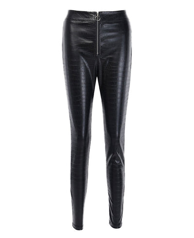 Faux Leather Pants Black Skinny Trousers