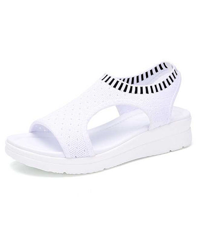 Women Summer White Platform Sandals-1