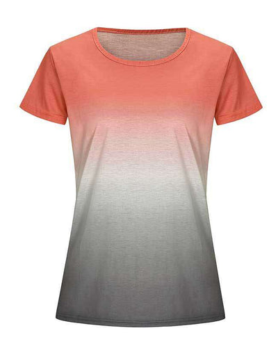 Change Color Round Neck T-shirt-10