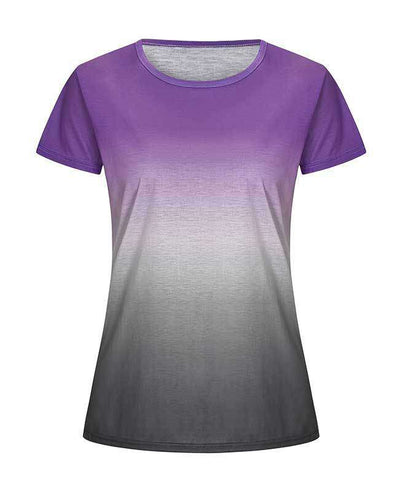 Change Color Round Neck T-shirt-9