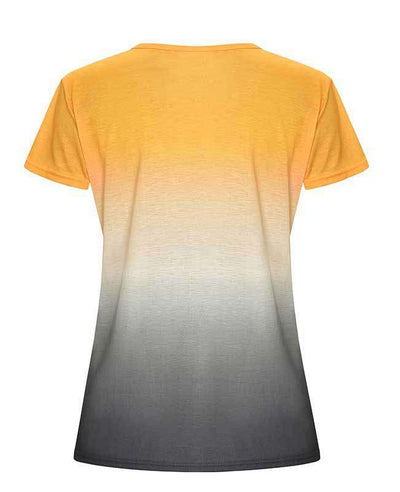 Change Color Round Neck T-shirt-12