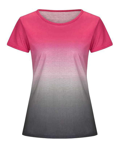 Change Color Round Neck T-shirt-11