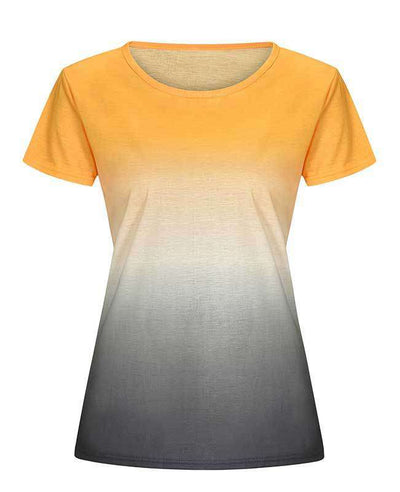 Change Color Round Neck T-shirt-7