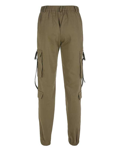Loose Military Cargo Pants-4