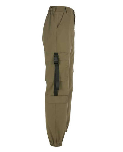 Loose Military Cargo Pants-9