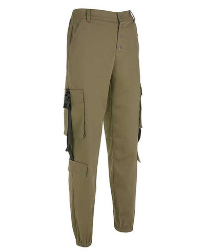 Loose Military Cargo Pants-5