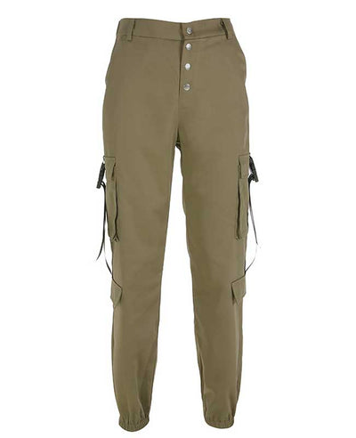 Loose Military Cargo Pants-3