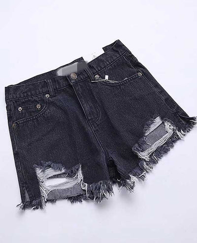 Push Up Ripped Jeans Shorts-8