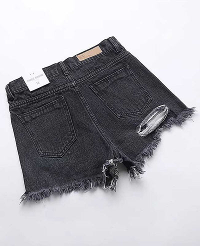 Push Up Ripped Jeans Shorts-6