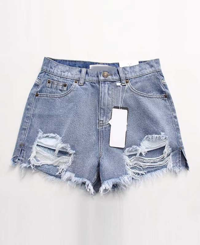Push Up Ripped Jeans Shorts-5