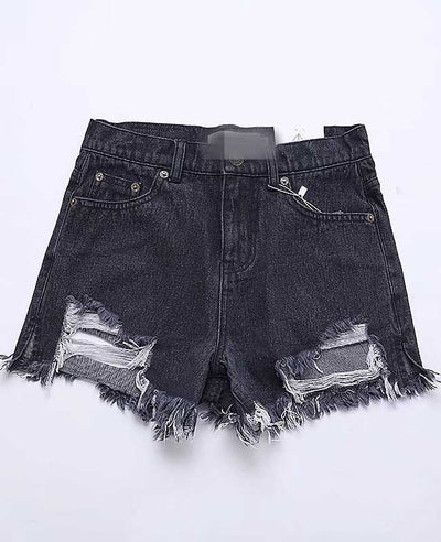 Push Up Ripped Jeans Shorts-4