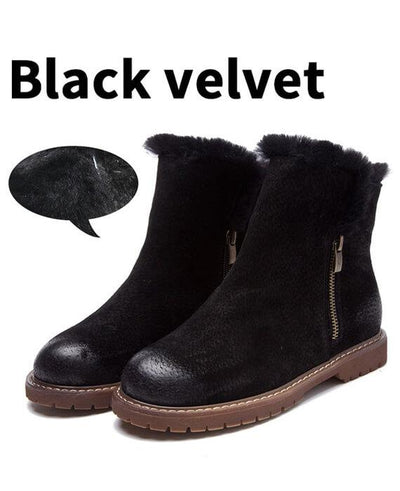 Suede Plush Cashmere Warm Ankle Boots-2