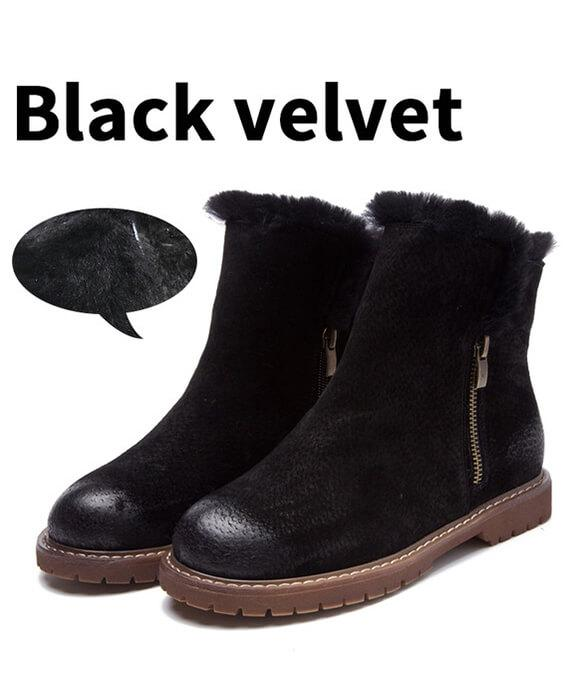 Suede Plush Cashmere Warm Ankle Boots