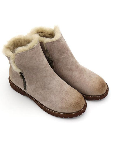 Suede Plush Cashmere Warm Ankle Boots-5