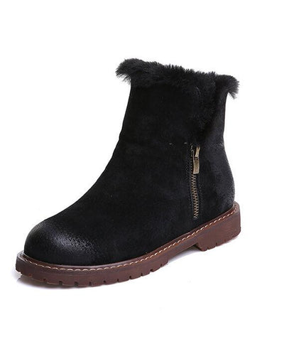 Suede Plush Cashmere Warm Ankle Boots-4