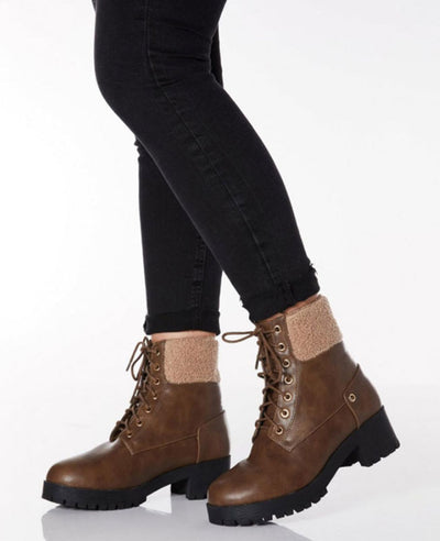 Winter Lace Up Ankle Boots
