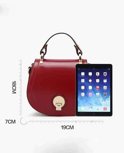 Women Pu Leather Handbag-5