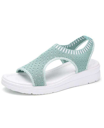 Women Summer White Platform Sandals-3