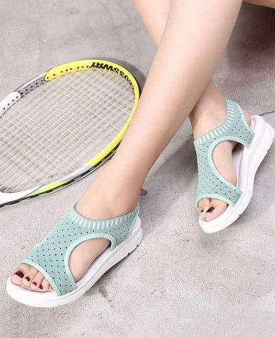 Women Summer White Platform Sandals-11