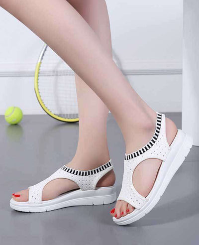 Women Summer White Platform Sandals-7