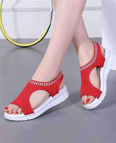 Women Summer White Platform Sandals-8