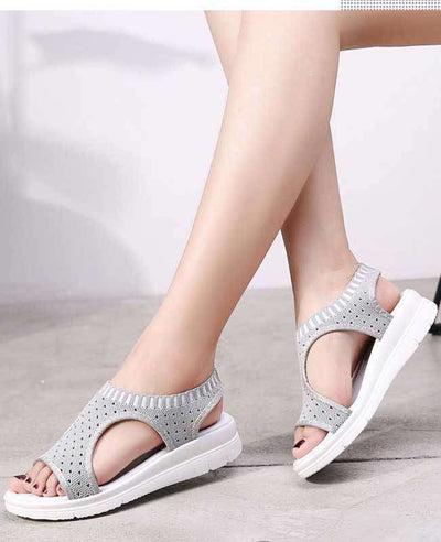 Women Summer White Platform Sandals-9